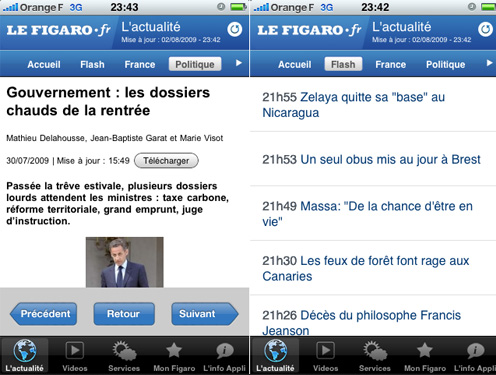 figaro journal application iphone gratuit