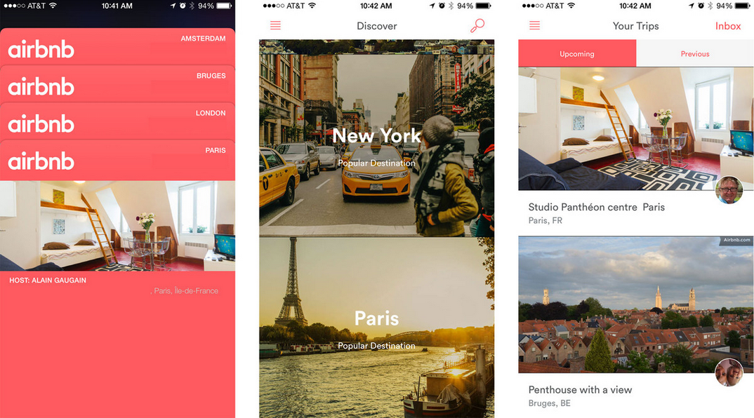 Airbnb application voyage logement