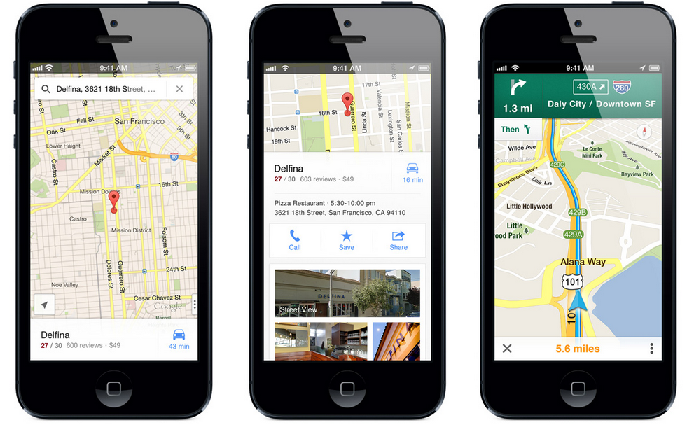Google map application iphone conseil voyage