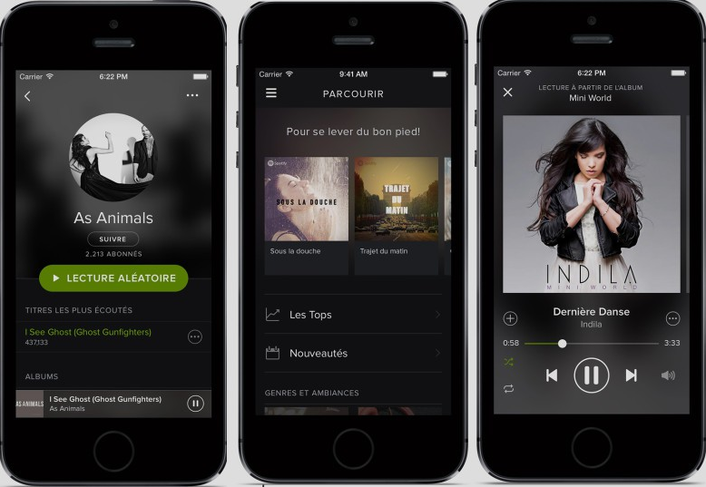 Spotify streaming musique gratuit