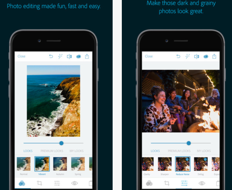 adobe photoshop express retoucher iphone application