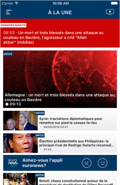 App gratuite euronews