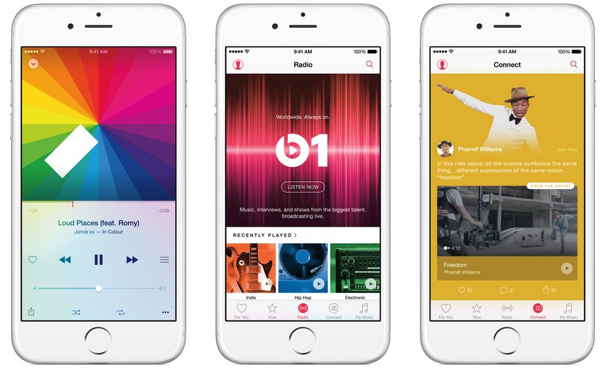 Apple Music streaming musique musical iphone