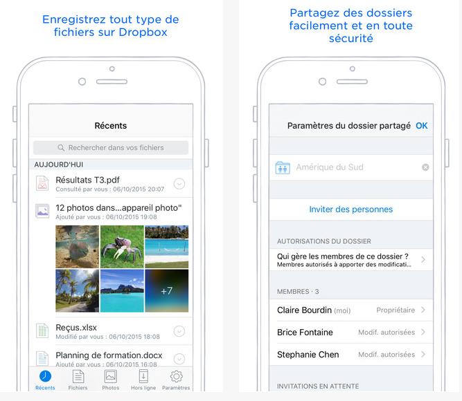 Dropbox cloud partage stocker gratuit