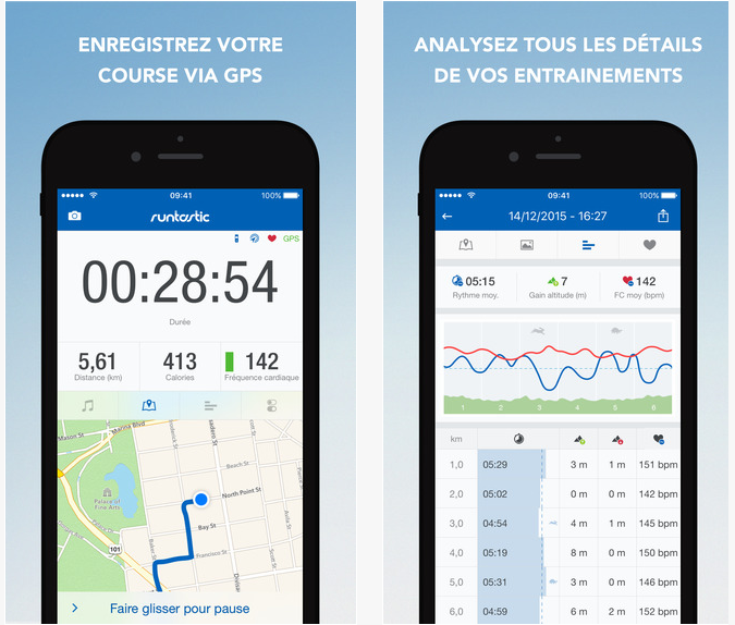 Runtastic Run Pro courir course sport application top