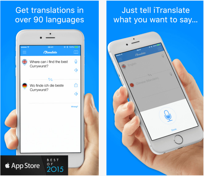 iTranslate Pro traduction apple iphone voyage