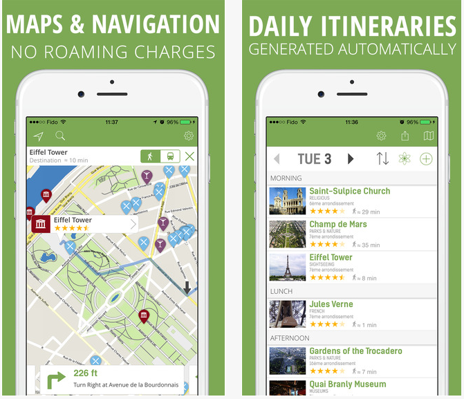 mTrip voyage organiser application iphone top10