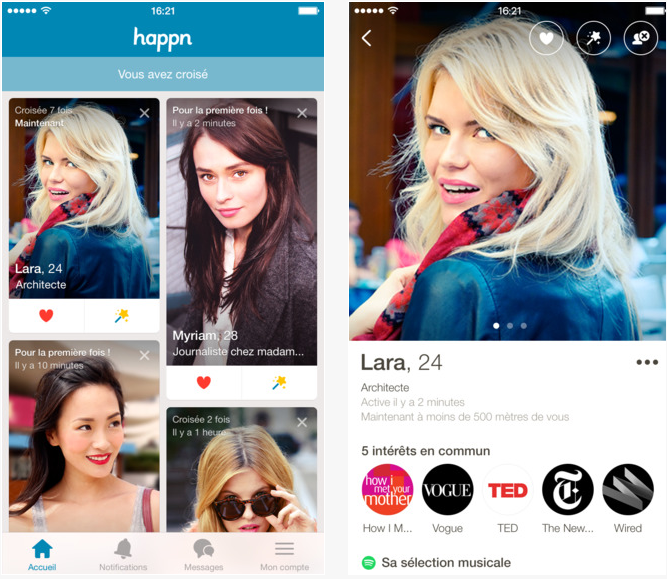 Happn géolocalisation rencontre drague