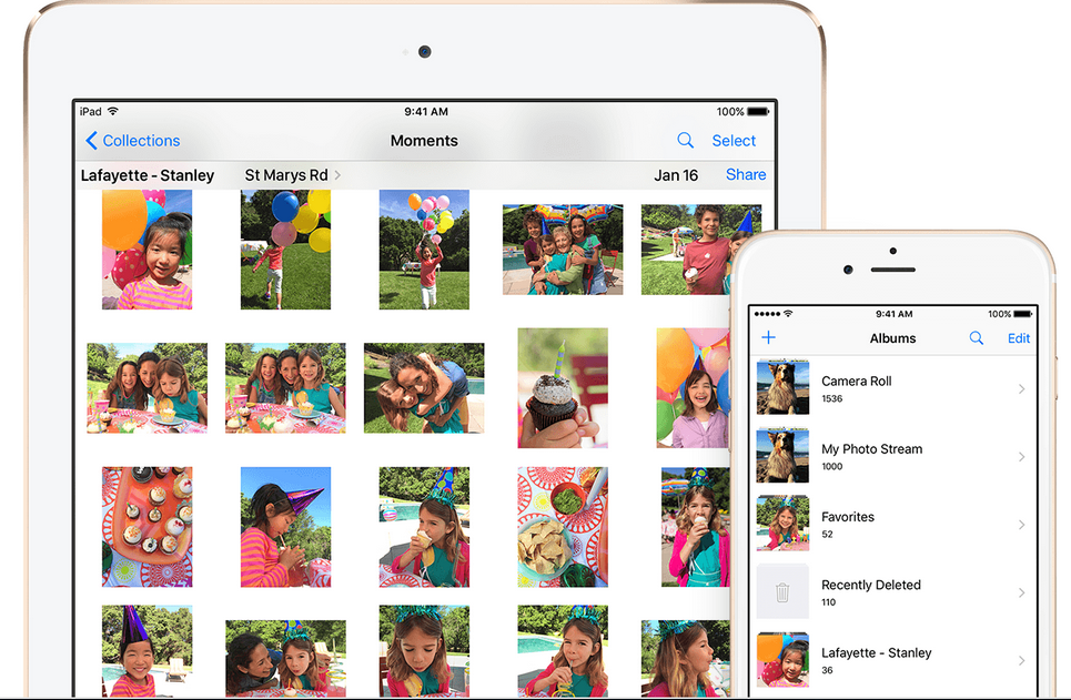 iCloud Photo Stream stockage synchro app top