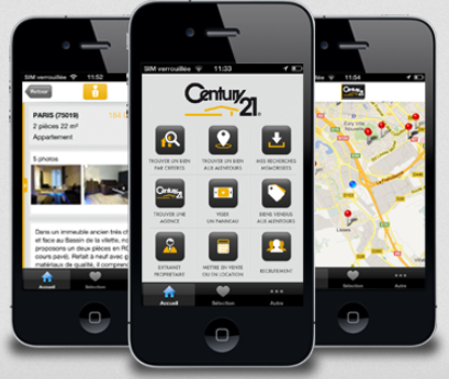century21 agence immobilier app