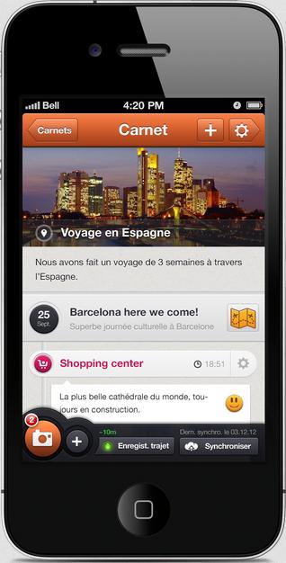 mobilitytrip application carnet voyage
