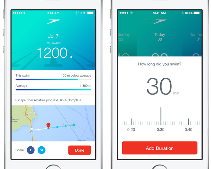 speedo fit application sport nage santé