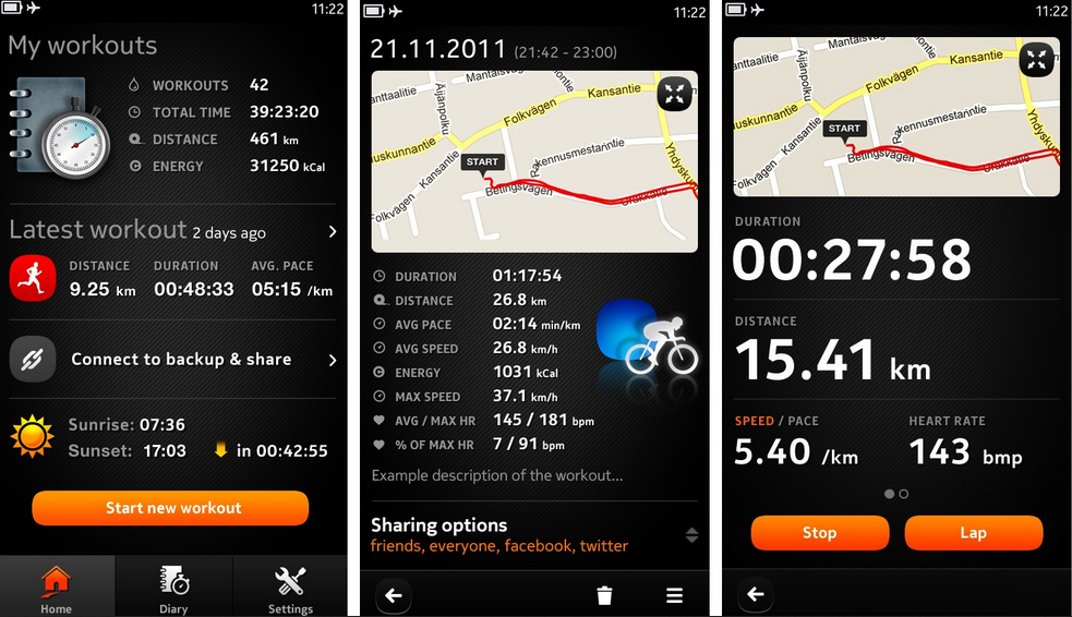 sports tracker application sport iphone gratuite