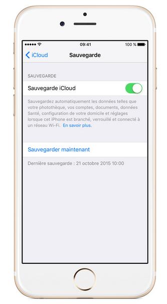 iCloud réinitialiser iphone