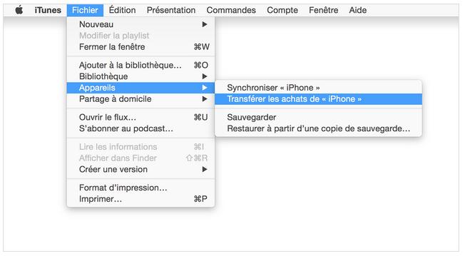 iTunes réinitialiser sauvegarder téléphone apple